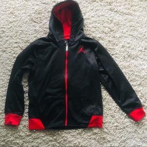 Boys Jordan zip up hoodie size large